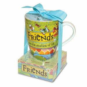 Ceramic Mug and Memo Pad Friends